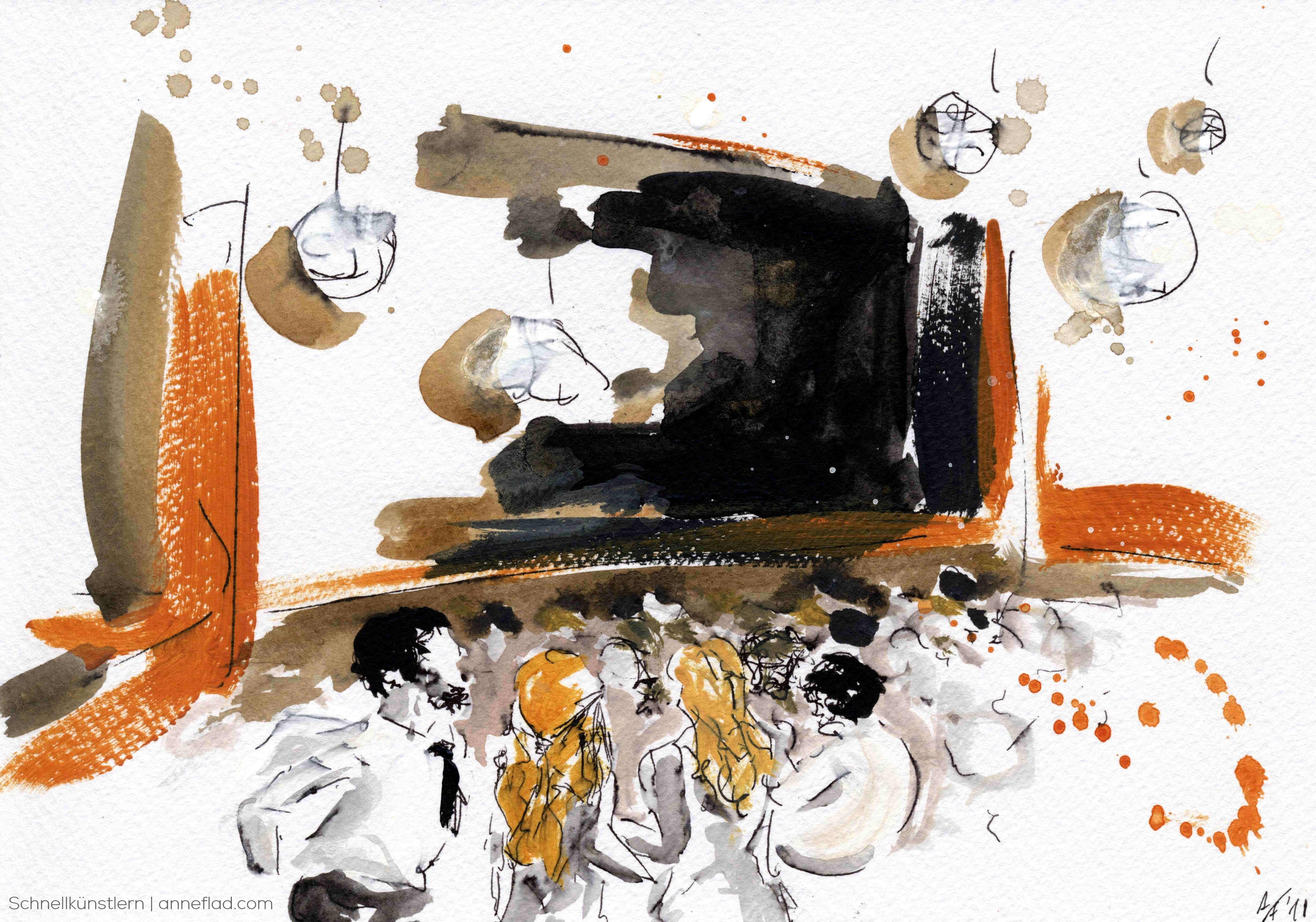 Hochzeitsbegleitung - Schnellzeichnung und -malerei Anne Flad Hochzeitszeichnerin