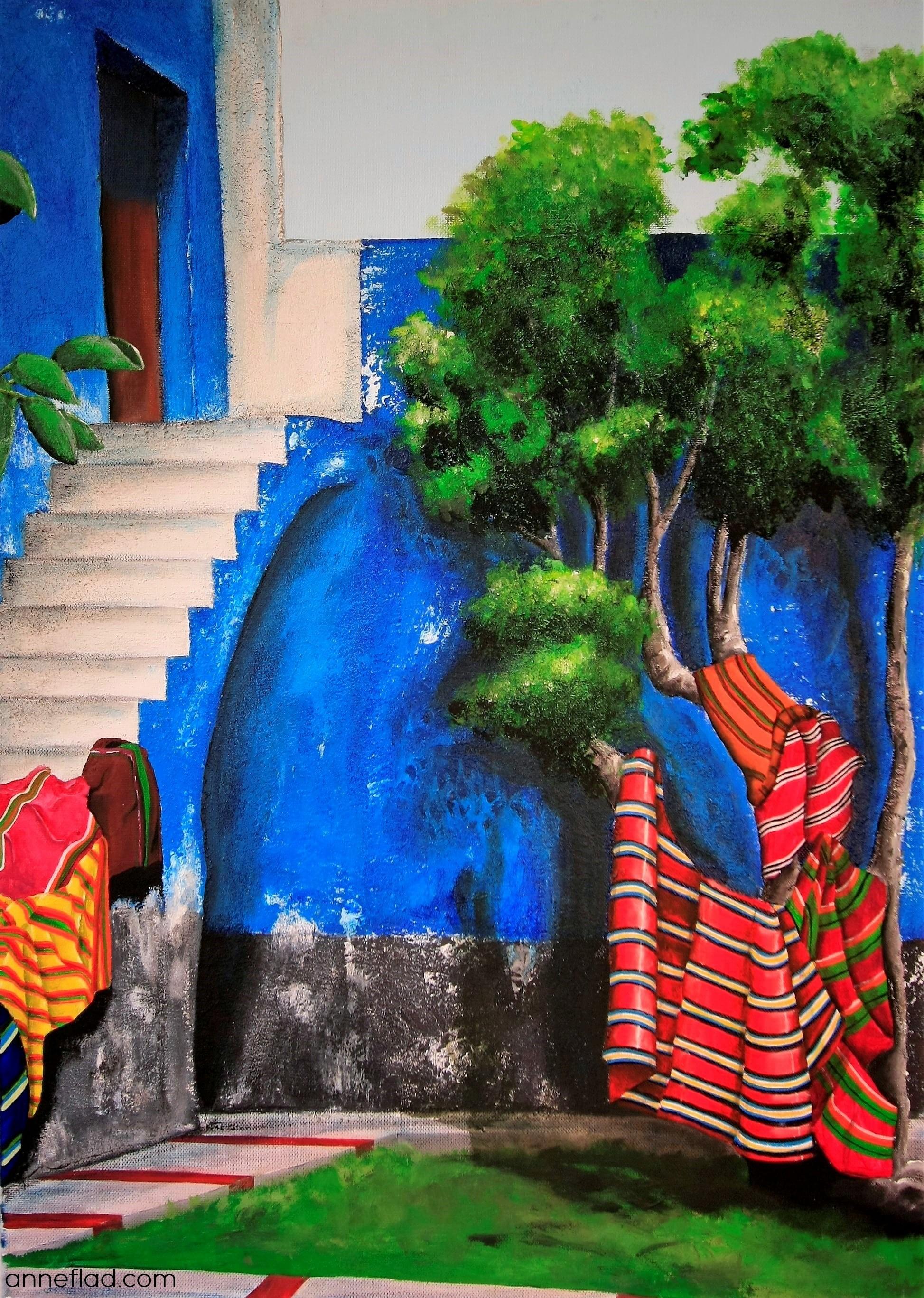 """""""Convento Sta. Catalina"""", Acryl auf Leinwand, 50 x 70 cm, 2014 (leihbar und / oder käuflich erwerbbar über die Kunstleihe Harburg)"""